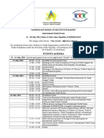 Events Agenda for Inter Youth Forum AZE 2014 (1)