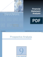 """Chapter 9 """" prospective analysis"""" FINANCIAL ANALYSIS STATEMENT"""