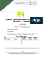 IPC HSE PLA 015 Plan Capacitacion