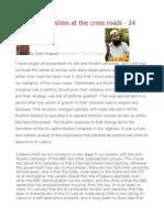 Sri Lankan Muslims at the Cross Roads – 24