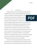 lesson plan context page