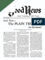 Good News 1961 (Vol X No 10) Oct