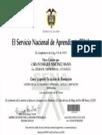 Certificado Sena, Para Colombia Distrito Capital