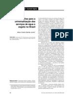 Desafios para universalização Dos Serviçoes de Água e Esgoto No Brasil, 2009
