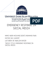 Emergency Response in Social Media