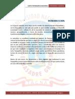 Informe de Carta Topografica Nacional - Geodesia - T - 2012