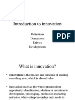 Intro to Innovation
