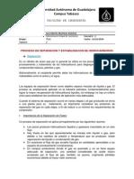 Proceso de Separacion y Estabilizacion de CH's