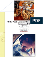 Order Food Lunch or Dinner Delivery in Vancouver British Columbia