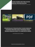 Laporan Draf Akhir Kawasan Strategis Provinsi Banten Lama dan Kawasan Hal Ulayat Masyarakat Baduy