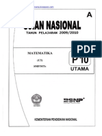 Naskah Soal UN Matematika SMP 2010 (Paket 10).pdf