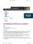 Glass Thickness Calculation for Aquariums