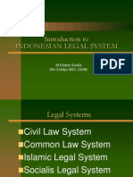 Introduction to Indonesian Legal System