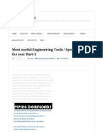 Most Useful Engineering Tools _ Spreadsheets for You_ Part-1 _ What is Piping