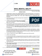 All India P.T. Test Series CSAT (General Mental Ability)