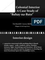 Philippine Spanish Interior Design