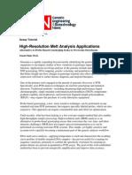 High-Resolution Melt Analysis Applications