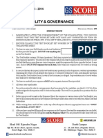 All India P.T. Test Series - Polity & Governance