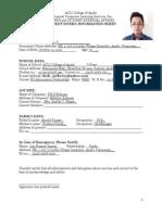 Student Intern Information Sheet