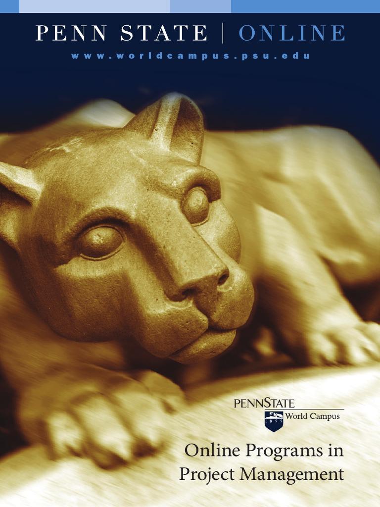Penn State Mpm Project Management Pennsylvania State University