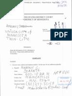 Diabate v University of Minnesota Complaint
