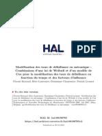 FBr07 - Modelisation Des Taux de Defaillance en Mecanique