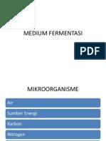 Medium Fermentasi