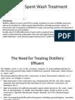 Distillery Spent Wash Treatment