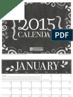 BPW 2015 Free Printable Calendar