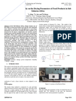 Effect of Air Flow Velocity on the Drying Parameters of Food Products in Sub Saharan Africa