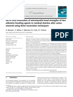 An in Vitro Evaluation of Microtensile Bond Strengths of Two Adhesive Bonding Agents to Residual Dentine After Caries Removal Using Three Excavation Techniques 2010 Journal of Dentistry