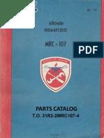 MRC-107   PARTS CATOLOGUE  Veis.s SV2IPW