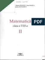 Mircea Fianu et alii, Matematica Cls VIII Sem II