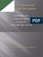 PJM3117 Psikologi Sukan Dan Senaman Findy