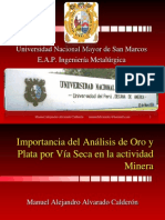 Determinacion Analtica Del Oro