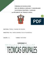 Conceptualizacion de Tecnica y Tecnicas Grupales