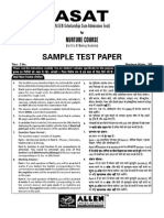 Paper Class XI[Nurture(X-XI)]