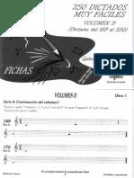 Dictados Musicales Volumen 2 - 2 LOGSE [Fichas 169 a 250]
