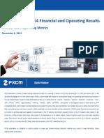 FXCM Q3 2014 Earnings Presentation