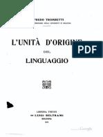 Trom Betti Unita d'Origine Del Linguaggio