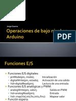 Operacion Bajo Nivel Arduino