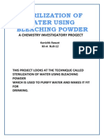 Chemistry Project on Sterilization of Water