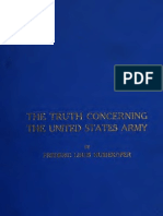 (1911) Truth Concerning the US Army by Frederic Louis Huidekoper 1874-1940