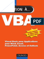 VBA Visual Basic Pour Applications Pour Word, Excel, PowerPoint, Access Et Outlook