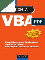 VBA Visual Basic Pour Applications Pour Word, Excel, PowerPoint, Access Et Outlook