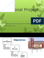 personal project  student review ppt
