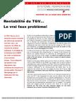 Rentabilité du TGV…  Le vrai faux problème!
