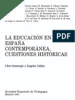 La Educacion en La España Contemporanea