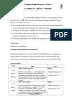 P4 Syllabus 20014 - 2015 - Semester 2