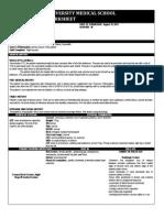 Worksheet Surgery - Fracture